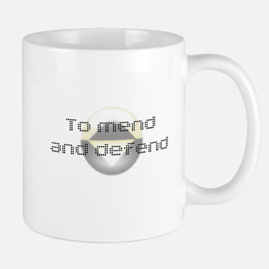 To Mend and Defend Mug