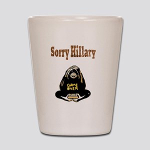 Lock Her Up Game Over Hillary 8 Shot Glass
