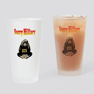 Lock Her Up Game Over Hillary 6 Drinking Glass