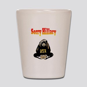 Lock Her Up Game Over Hillary 6 Shot Glass