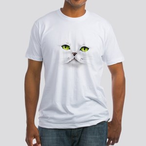 Cat face Fitted T-Shirt