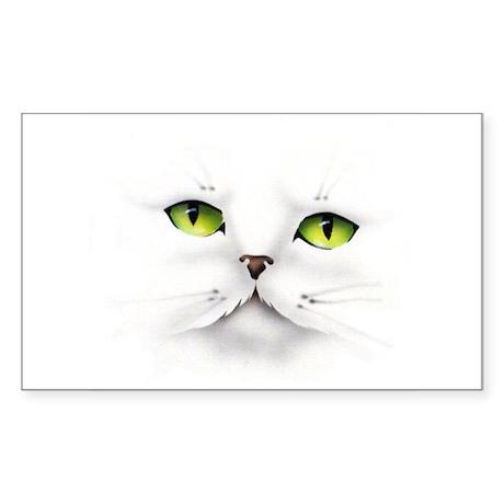 Cat face Rectangle Sticker