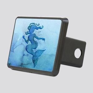 Blue Watercolor Mermaid Hitch Cover