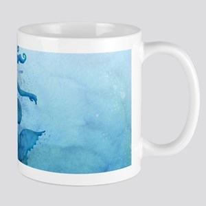 Blue Watercolor Mermaid Mugs