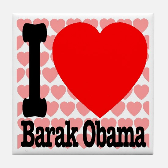I Love Barak Obama Tile Coaster