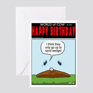 Cow Pie Wedge. Greeting Card