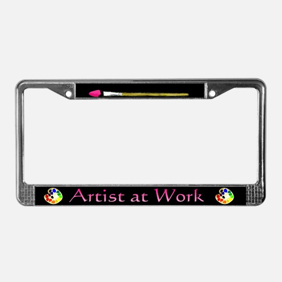 Artist at Work License Plate Frame