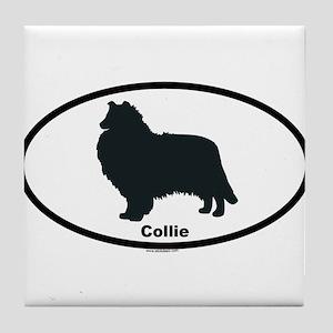 COLLIE-ROUGH Tile Coaster
