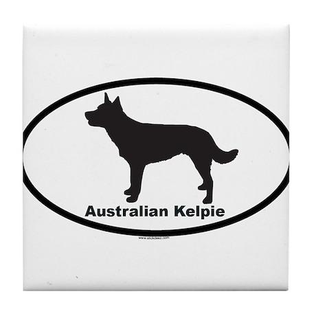 AUSTRALIAN KELPIE Tile Coaster