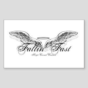 Fallin' Fast Angel Wings Rectangle Sticker