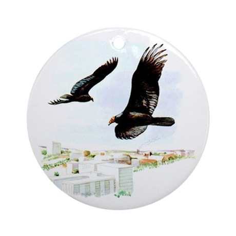 Turkey Vulture Ornament (Round)