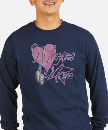 Marine Mom Heart N Star T