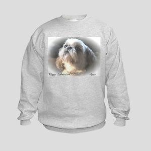 Shih Tzu puppy kids sweatshirt elpace