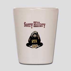 Lock Her Up Game Over Hillary 4 Shot Glass
