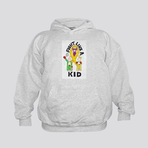 Fight Like A Kid Kids Hoodie