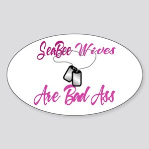 Seabee wives are Oval Sticker
