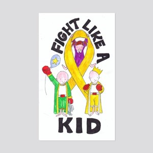 Fight Like A Kid Rectangle Sticker
