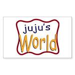 Juju's World Rectangle Sticker 50 pk)