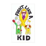 Fight Like A Kid Sticker (Rectangle 10 pk)