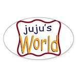 Juju's World Oval Sticker (50 pk)