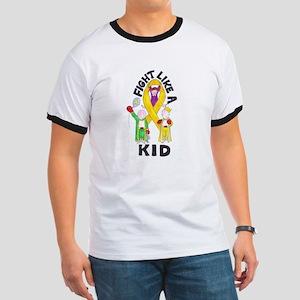 Fight Like A Kid Ringer T