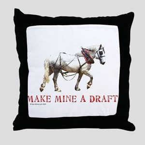 Make Mine A Draft Throw Pillow