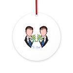 Groom-Groom Wedding Ornament (Round)