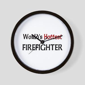 World's Hottest Firefighter Wall Clock