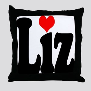 I love Liz Throw Pillow