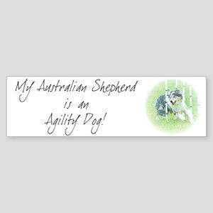 Agility Dog Art Australian Shepherd Bumper Sticker