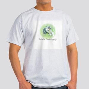 Agility Art Australian Shepherd Light T-Shirt