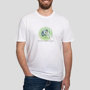 Agility Art Australian Shepherd Fitted T-Shirt