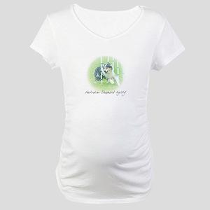 Agility Art Australian Shepherd Maternity T-Shirt