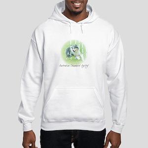 Agility Art Australian Shepherd Hooded Sweatshirt