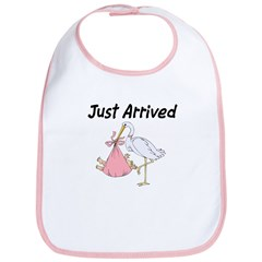 Just Arrived Baby Girl Bib