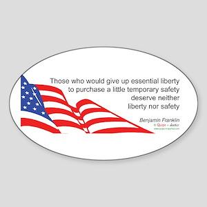 Don't sacrifice Liberty - Oval Sticker