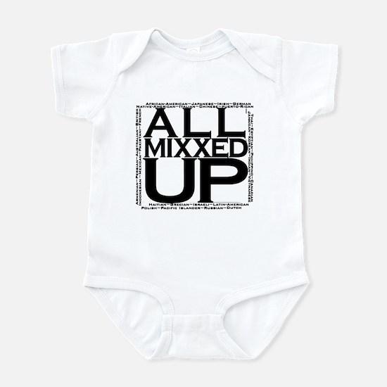ALL MIXXED UP (black) Infant Bodysuit