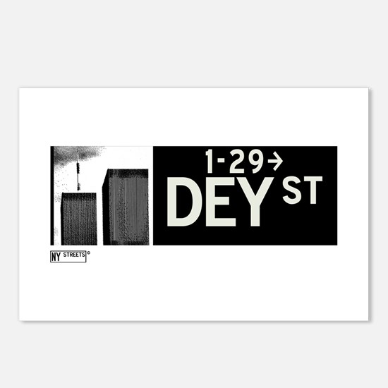 Dey Street in NY Postcards (Package of 8)
