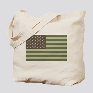 Camo American Flag Tote Bag