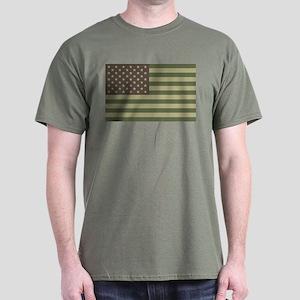 Camo American Flag Dark T-Shirt