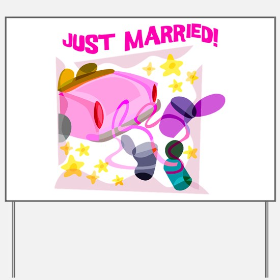 Just Married Limo Yard Sign