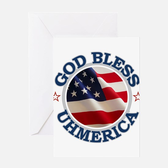 God Bless Uhmerica Greeting Card