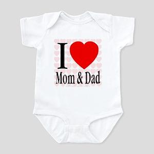 I Love Mom & Dad Infant Creeper