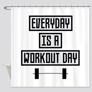 Everyday Workout Day Cge5d Shower Curtain