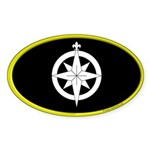 Northshield Populace Oval Sticker (10 pk)
