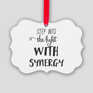 Step into the light with Synergy. Picture Ornament