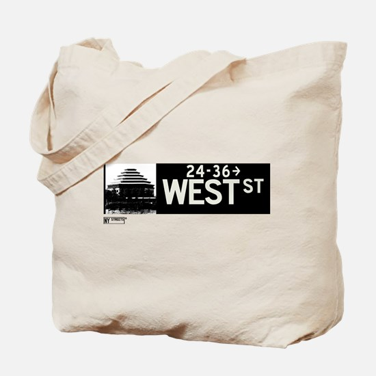 West Street in NY Tote Bag