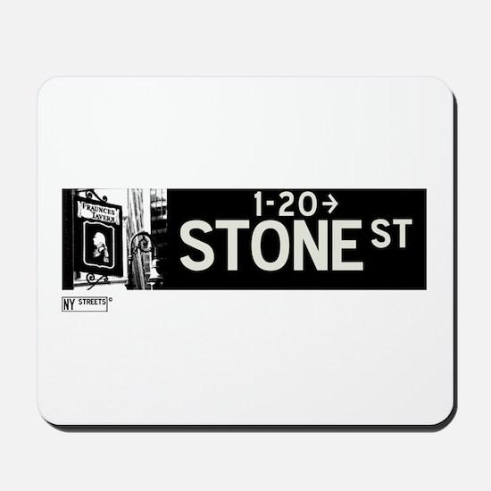Stone Street in NY Mousepad