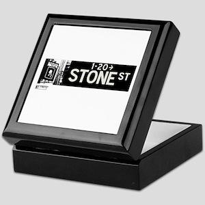 Stone Street in NY Keepsake Box