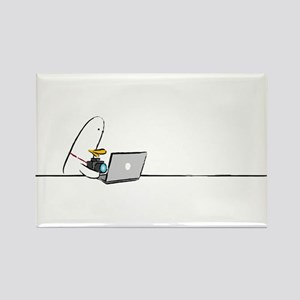 WTD: At Laptop Rectangle Magnet